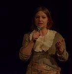Anastasia Bourlakova qui parle au micro