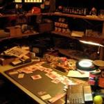 Une table de travail